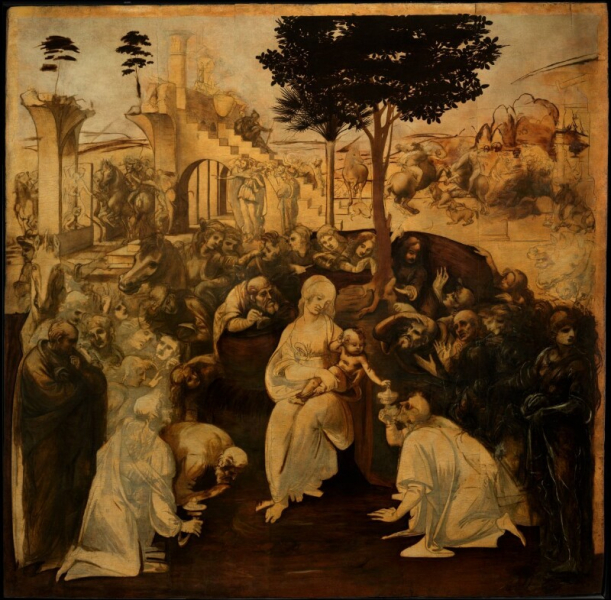 Leonardo Da Vinci - Adoration of the Magi (after restoration)