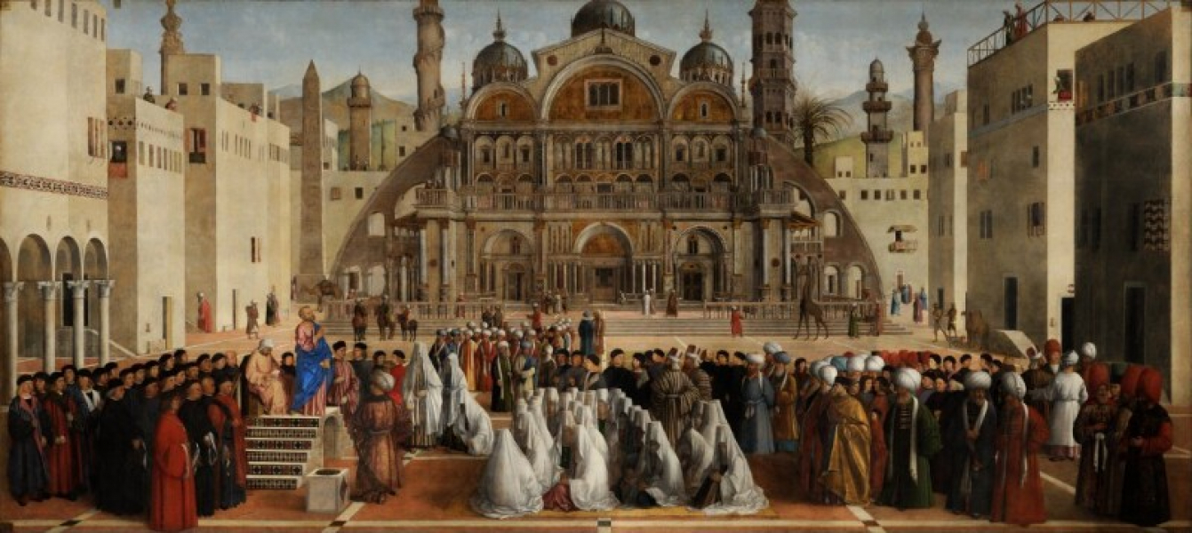 Gentile Bellini - Preaching of Saint Mark in Egypt